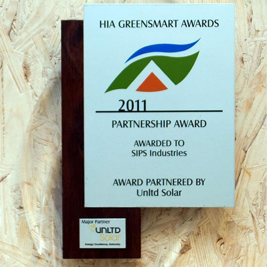 HIA GreenSmart Award Winner 2011 - PARTNERSHIP AWARD